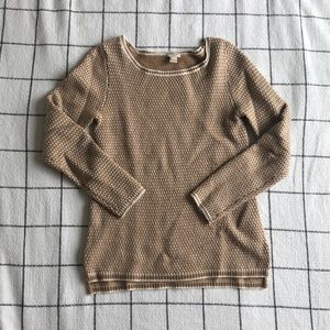Camel and Ivory Sweater